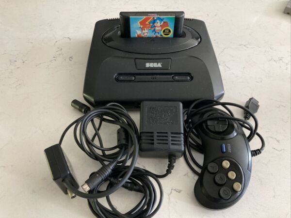 SEGA Genesis Model 2 System with Sonic the Hedgehog 2 Game Cleaned amp; Tested $39.00