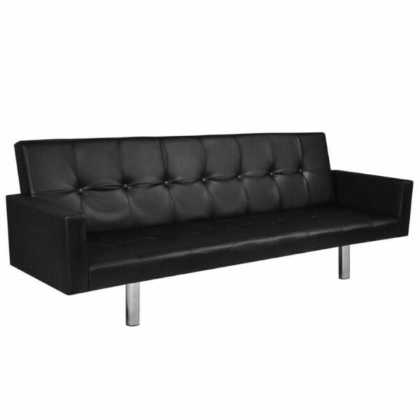 Faux Leather Sofa Bed Fold Up amp; Down Recliner Couch Living Room Furniture Black $249.92