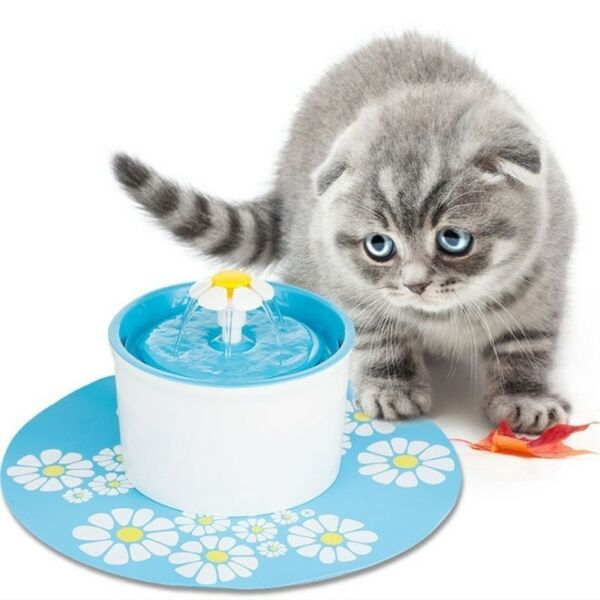 2 x Flower Style Filter Fountain Pet For Automatic Cat Dog Water Drinking $8.15