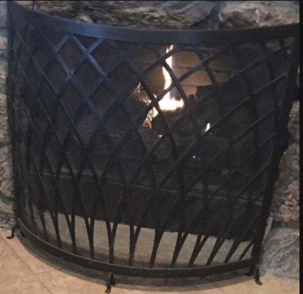 Wrought iron FirePlace 🔥 Screen vintage