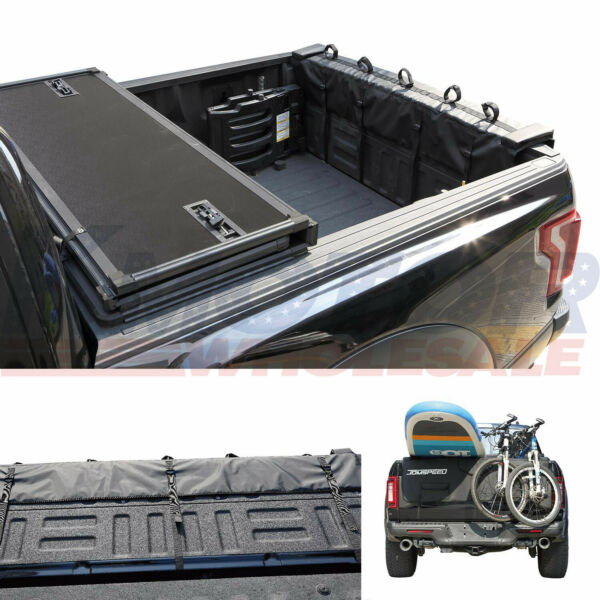 Black Tailgate Pad Full Size Truck Fit For Surfboard Bicycle Payloa Surf Bike $75.97