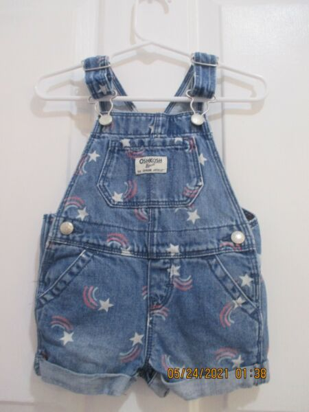 baby girls Oshkosh size 9 months 1 piece overall shorts outfit