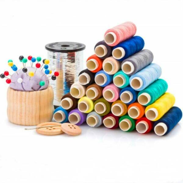 30 Spools Colour Finest Quality Sewing All Purpose 100% Cotton Thread Reel
