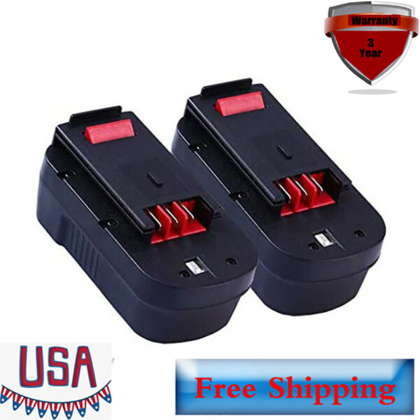 2 Pack HPB18 Battery for Black and Decker 18 Volt Cordless Power Tools HPB18 OPE