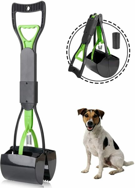 Pet Pooper Scooper For Dogs Cats With Long Handle Foldable Dog Poop Waste Pick $16.99
