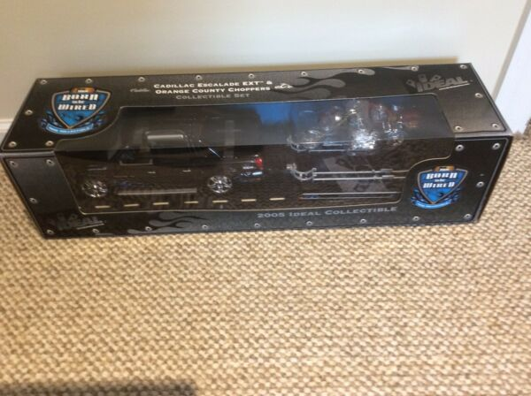 Ideal Ertl Cadillac Escalade Ext with 2 Orange County Choppers on Trailer 1:18 $69.00