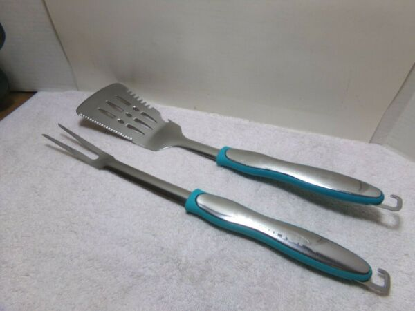 2 Cuisinart Grill Tools Cooking Utensil Spatula Fork
