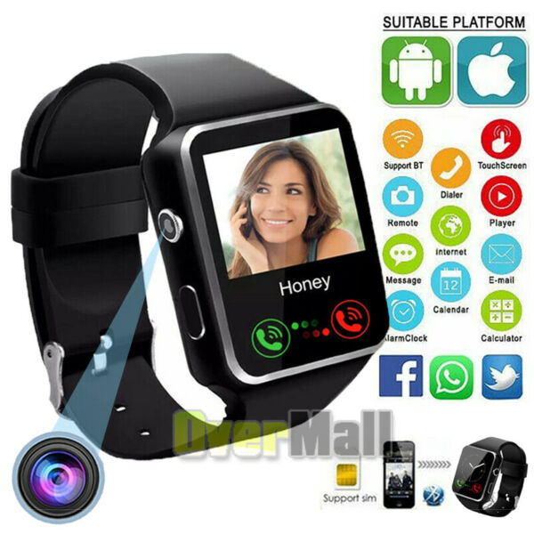2021 Touch Smart Watch Women Men w Camera For iPhone Android IOS Waterproof $22.91