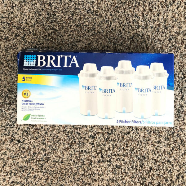 Brita Pitcher Replacement Water Filters 5 Pack Brand New Sealed