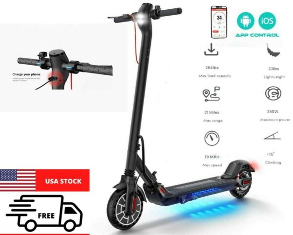 ELECTRIC SCOOTER ADULTLONG RANGE 22 MILES FOLDING E SCOOTER SAFE URBAN COMMUTER $369.45