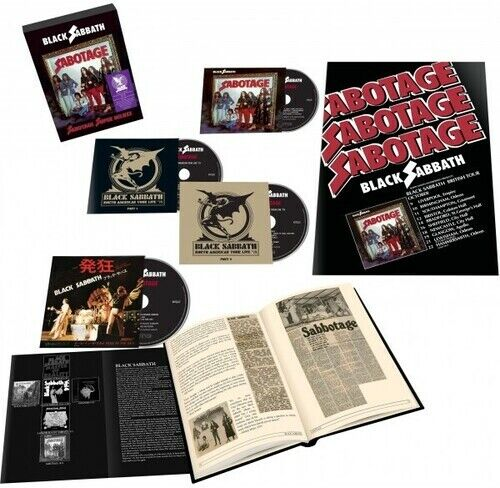 Black Sabbath Sabotage Super Deluxe Edition 4CD New CD Boxed Set Deluxe $37.82
