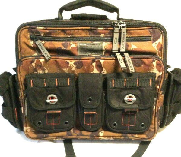 RARE OAKLEY TACTICAL FIELD GEAR MESSENGER BAG Brown Camo Pack w Backpack Straps $322.98