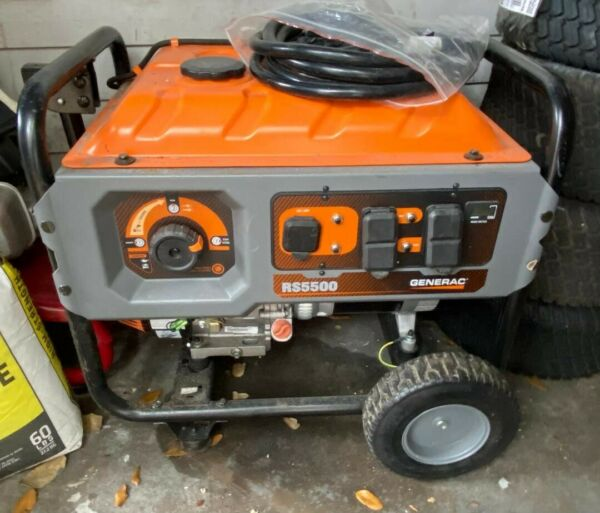 Portable Gas Generator Generac RS5500 only 44 hrs LOCAL PICKUP ONLY ORLANDO FL $350.00