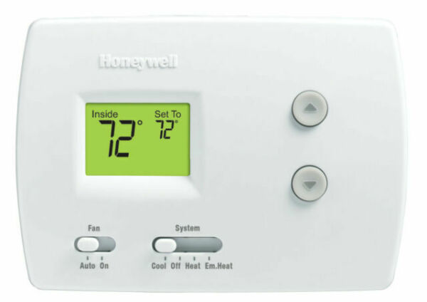 Honeywell Thermostat Non Programmable Heat Pump ONLY 2H 1C Pro 3000 TH3210D1004 $51.99