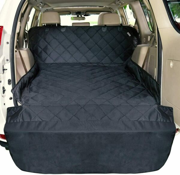 Pet Dog Car Seat Cover Quilted Truck Back Cargo Liner Protector with Side Flaps $27.89