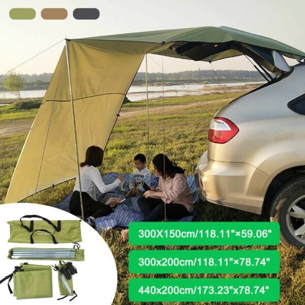 Car Roof Top Tent Camping UV Portable Tent Rooftop Car Shelter Camping Side Tent $92.99