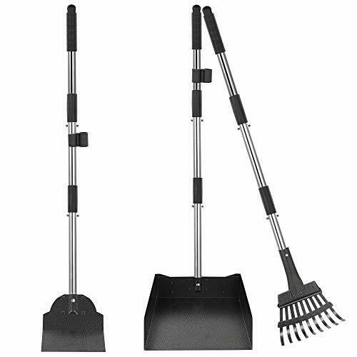 Dog Pooper Scooper for Large Small Dogs 3 Piece Rake Tray and Spade Set $28.30