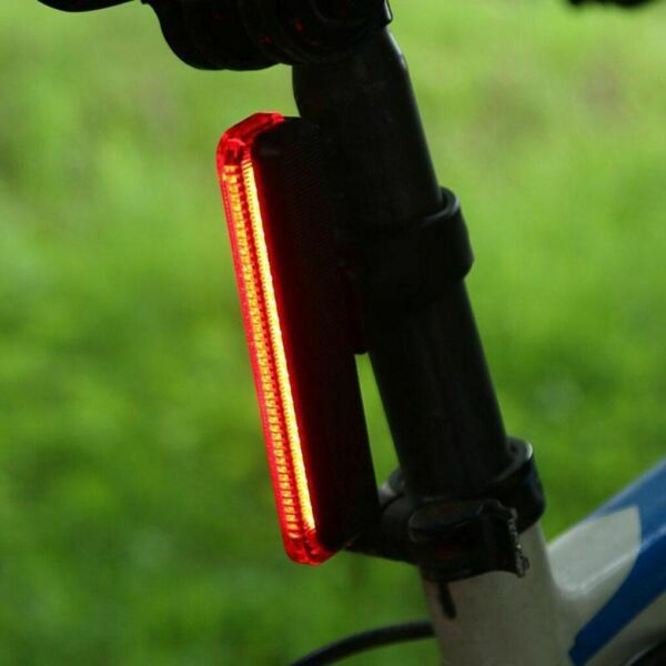 LED Flashlight Bicycle Taillight Seat Post Mounted Caution Lamp Bike Accessories $15.98