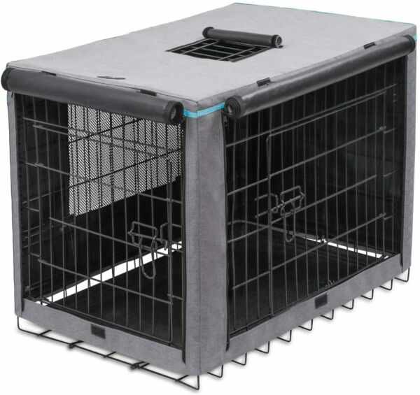 42 Inch Dog Crate Cover Indoor Outdoor Durable Windproof Kennel for Wire Dog $48.52