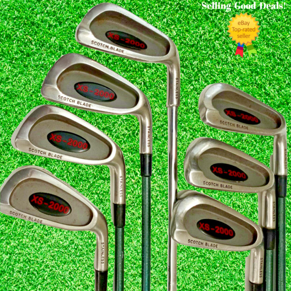 GolfCraft Scotch Blade Partial Iron Set Missing #5 3 PW RH they are 1 in Longer