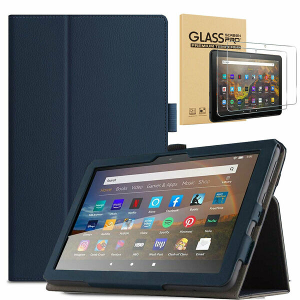 For New Amazon Fire HD 10 10.1 Inch Tablet 11th Gen 2021 Folio Case Cover Stand