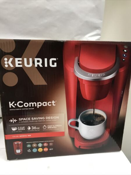 Keurig Coffee Maker K Compact Single Serve K Cup Pod Brewing Machine Red