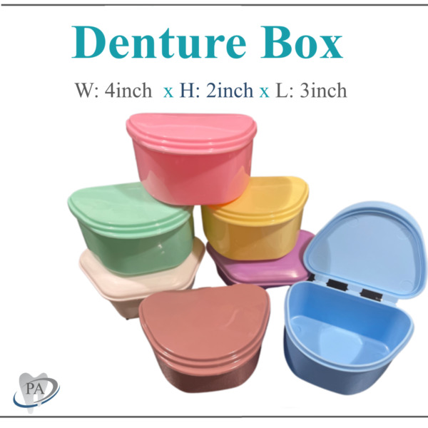 Dental Denture Box Retainer Box Carrier 4W x 2in x 2in Upto 200 Retainers Case $300.00