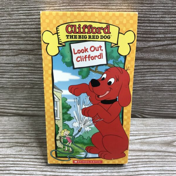 CLIFFORD THE BIG RED DOG *Look Out Clifford * VHS 📼 *Tested* Fast Shipping $9.99