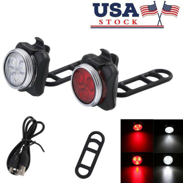 USB Rechargeable LED Bike Taillight Caution Bicycle Light Bike Accessories $8.16