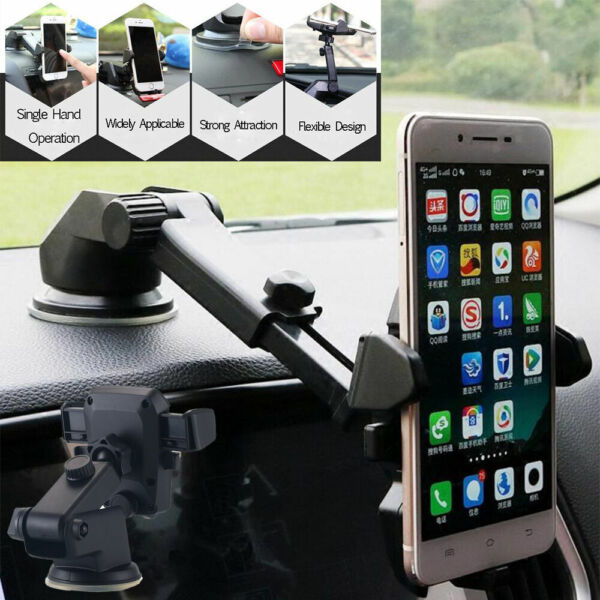 360° Mount Holder Car Windshield Stand For Mobile Cell Phone Android GPS $8.98