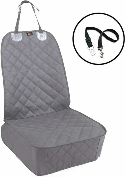 HONEST OUTFITTERS Dog Car Seat Cover Pet Front Cover for Cars Trucks Grey $28.36