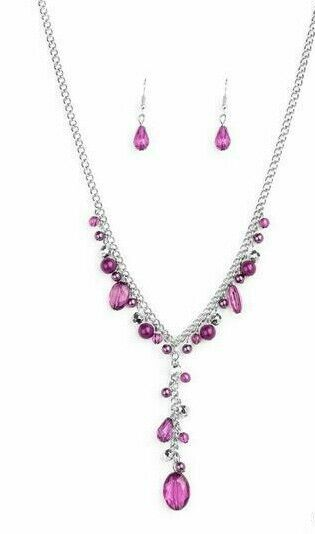 Paparazzi Jewelry Necklace Crystal Couture Purple