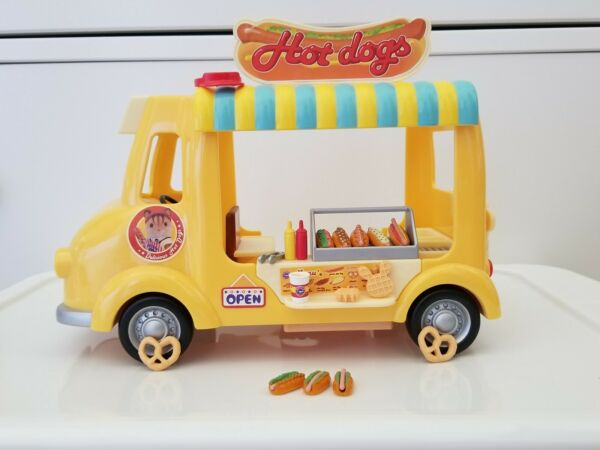 Calico Critters Toy Hot Dog Van Lot with accessories $35.00
