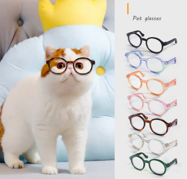 Pet Glasses Personality Halloween Accessories Plastic Clear For Cat Dog Glasses $4.99
