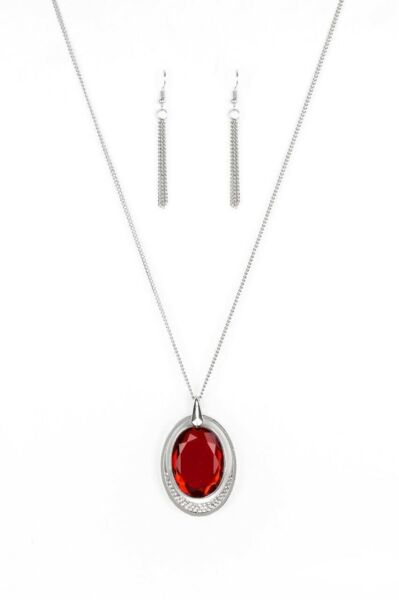 Paparazzi Jewelry Necklace Metro Must Have Red
