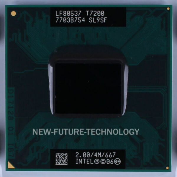 Intel Core 2 Duo Mobile T7200 2.0GHz 4MB 667MHZ Socket M CPU US Free shipping $2.88