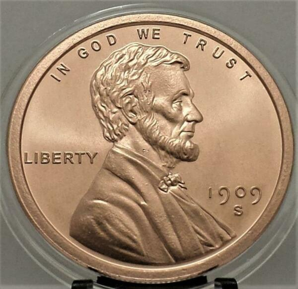 LINCOLN 1909 s VDP PENNY 1 oz .999 COPPER collector round*In New Capsule # B 3