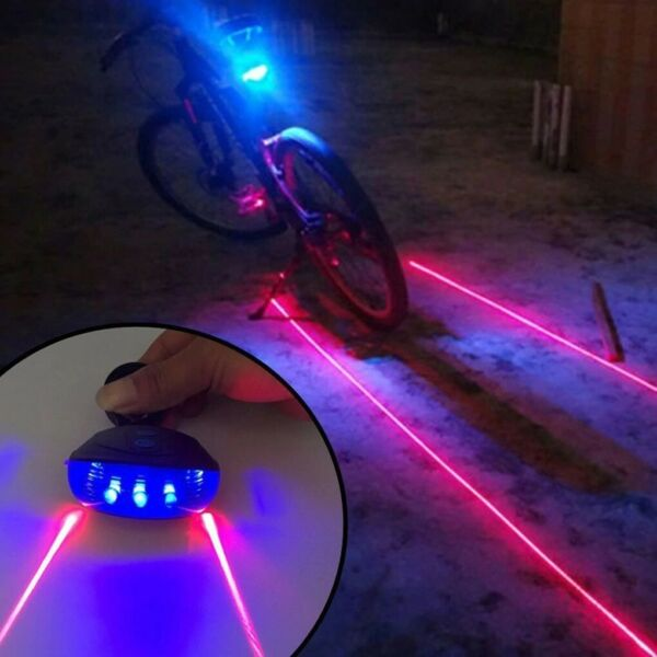 Waterproof Bicycle Cycling Lights Tail LED Laser Safety Warning Bike Accessories $6.08