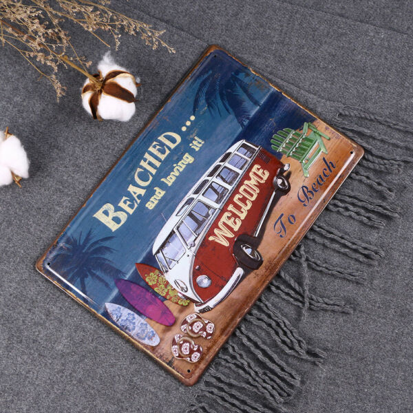 1Pc Painting Fashion Durable Truth Metal Iron Simple Signs for Coffee Home Shop