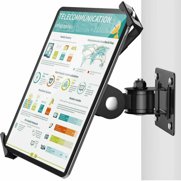 AboveTEK iPad Stand Tablet Wall Mount Fit 7 11#x27;#x27; Pads Lock To Wall Swivel Holder $49.99