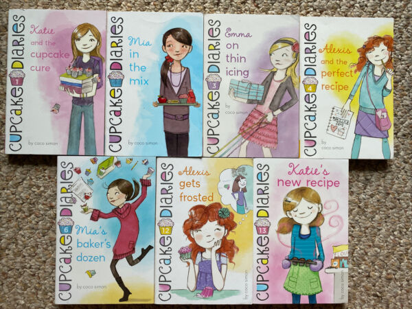 7 Lot Of 7 Cupcake Diaries Book Set #1 461213 By Coco Simon