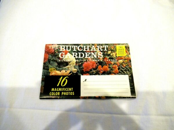 Butchart Gardens photo packet vintage cost 2 cents to post originally $10.00
