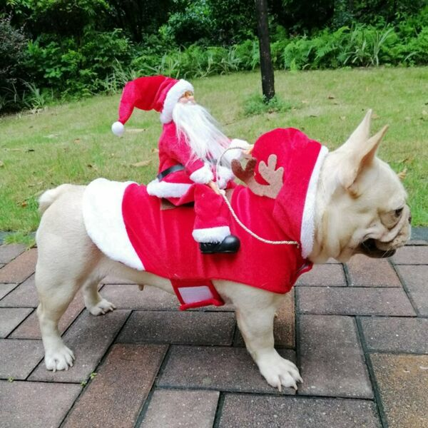 Pet Dog Small Large Christmas Santa Claus Cape Coat Costume Outfits Cosplay US $16.99