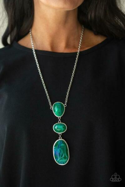 Paparazzi Jewelry Necklace Making An Impact Green
