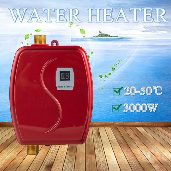 3000W Mini Instant Water Heater Indoor Electric Tankless Water Heater for Home $62.00