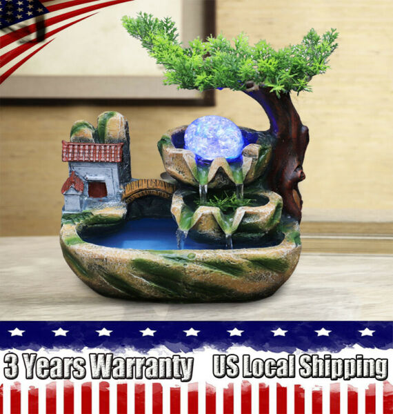 Tabletop Fountain Indoor Small Rockery Desktop Mountain for Gift and Decoration $49.00