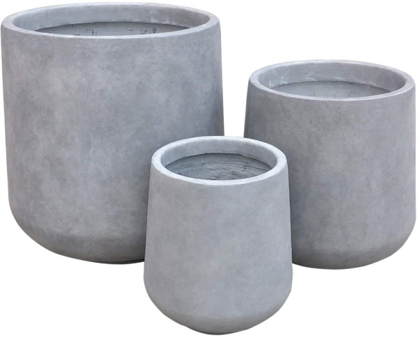 Kante RF2015022BCD C80021 Round Set of 3 Sizes Outdoor Indoor Large Planter for $146.29