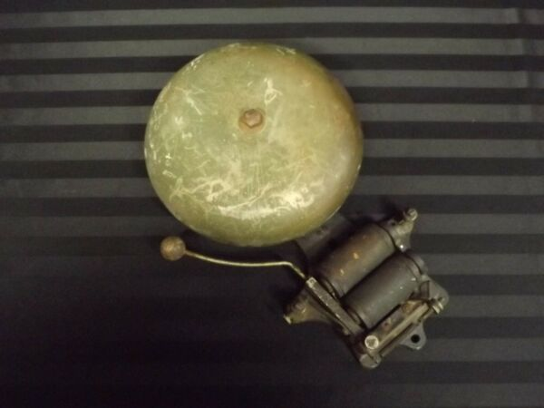 Antique Fire Alarm 8quot; Bell Cast Iron Wall Mount School Boxing Early Industrial