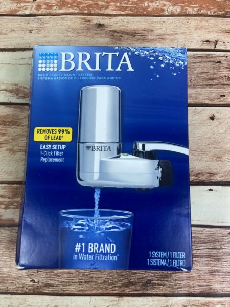 BRITA FAUCET MOUNT FILTER SYSTEM CHROME OPEN BOX FAST FREE SHIPPING Read