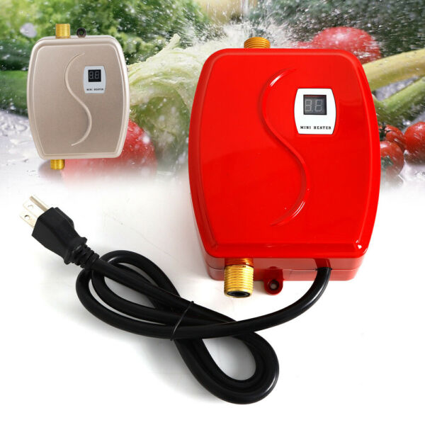 3KW 110V Electric Hot Water Heater Tankless Instant Kitchen Boiler Heater System $58.00